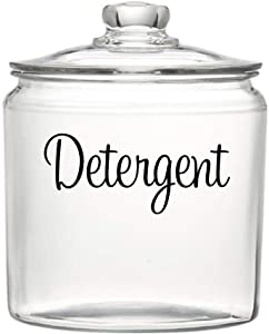 BYRON HOYLE Detergent Decal, Container Label Vinyl Lettering, Laundry Room Organization