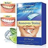 Teeth Whitening Strips,Teeth Bleaching,Teeth Whitening Kit,Teeth Whitening Zero Peroxide Strips Advanced Double Elastic Gel Strips Kit 28 Pcs 14 Treatments for Teeth Care,Mint Flavo