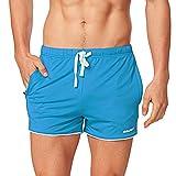 Baleaf Men's 3' Workout Bodybuilding Shorts Zipper Pockets