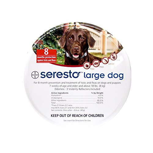 Bayer Seresto Flea and Tick Collar, Large Dog, 2Pack by Bayer Animal Health