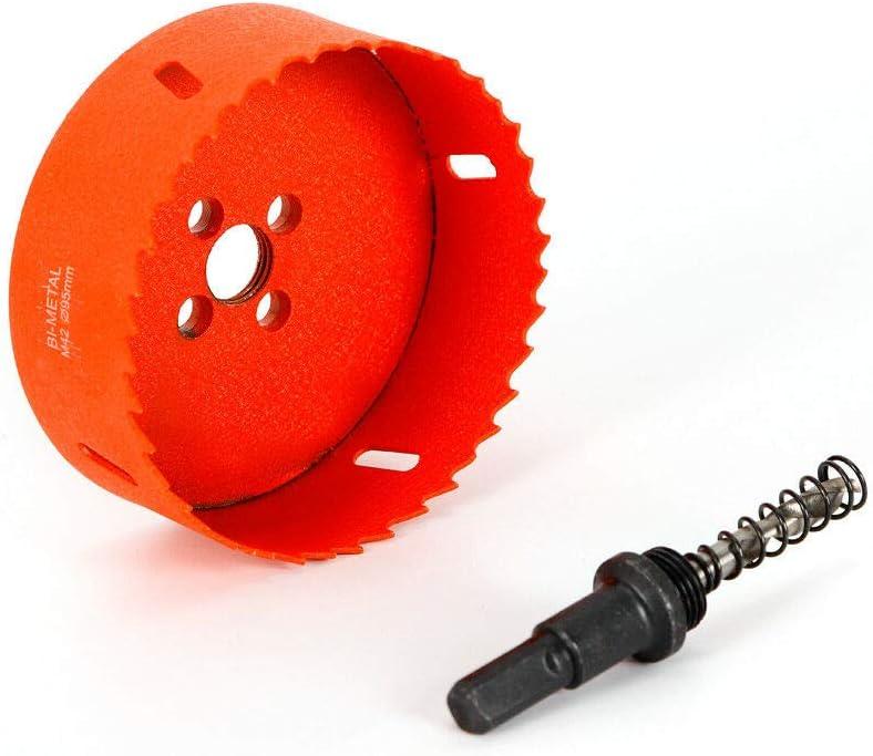 160mm M42 HSS bim/étal pour forage scie cylindrique foret de per/çage tr/épan en acier inoxydable Foret pour scie cloche,95//105 95mm pour m/étal bois platre