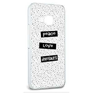 Snap On Protective Slim Hard Case for HTC One M9 Dinosaur Designs - Peace Love Dinosaurs