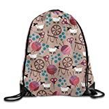 Sheep Animal Cute Teens Drawstring Bag Lightweight Gym Sack Bag Travel