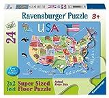 Ravensburger USA Map - 24 pc Super Sized Floor Puzzle
