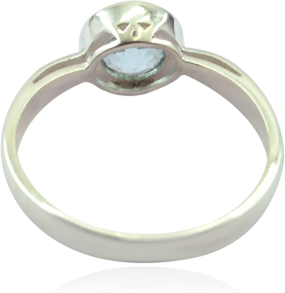 Lovely Gemstones Round Faceted Blue Topaz Rings Wholesale Jewellery Shops Gift Name Ring Sterling Silver Blue Blue Topaz Lovely Gemstones Ring