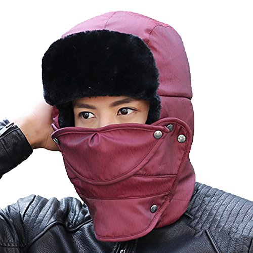 Ear SOOCO Mens Warm Para De Hat De Esquí Winter Unisex Prueba Máscara El Winter A Viento Ushanka Patinaje Bomber Flap DarkBlack Hiking PwPdrfqZE