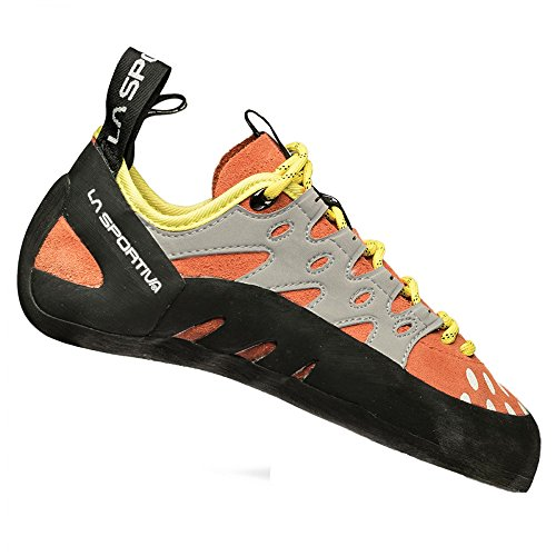 La Sportiva Women's TarantuLace Performance Rock Climbing Shoe, Coral, 39 M EU by La Sportiva