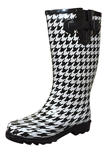 MSTKH Boots Rubber Houndstooth Small Womens Rain PSW fxH6Rw1qw