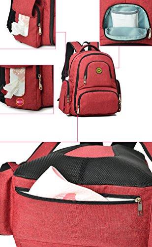 Baby Umhängetasche Top Multifunktions Rot Windel Rucksack Reisetasche Ghlee Grün Handtasche Umhängende Mama Handle