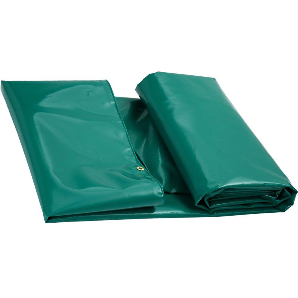 YANGFEI 防水シート ターポリン防水頑丈 - ブルー/グリーン/ホワイトターフシート - プレミアムクオリティーのカバーシート 耐久性に優れています B07DZ7BWLW 4*4m (actual size 3.85*3.85m)|緑 緑 4*4m (actual size 3.85*3.85m)