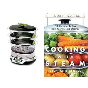 Cocedora al vapor Tefal y libro de recetas al vapor (inglés): Amazon.es: Hogar