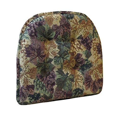 Klear Vu The Gripper Non-Slip Tufted Cabernet Tapestry Chair Cushion ()
