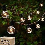 Lightdot Globe String Lights Indoor, 50ft G40 Outdoor Patio String Lights 2700K with 25+1 Edison Glass Bulbs, Waterproof Bist