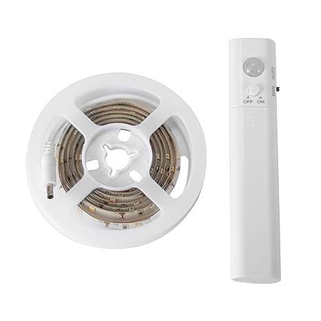 PIR sin hilos de la luz de tira del sensor de movimiento 1.5M 45 LED