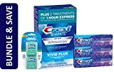 Crest 3D White Whitestrips (12 Treatments) with Crest Toothpaste Triple Pack and Glide Floss Twin Pack Bundle