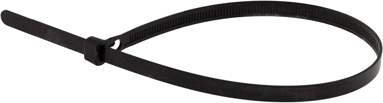Lot de 50 colliers r/éutilisables 7,6x 250mm noirs