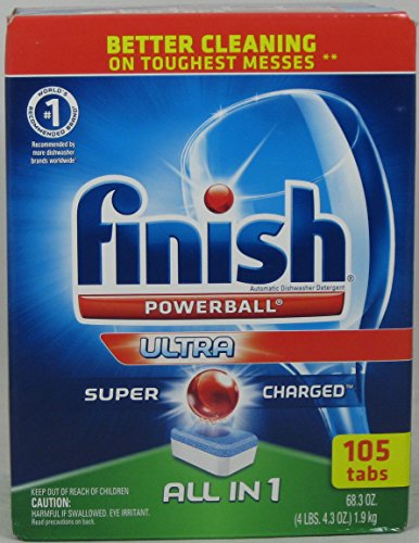 Finish All-In-One Dishwasher Detergent Powerball Tabs 105 ()