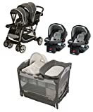Graco Ready2grow Double Travel System + Pack N Play Playard with Cuddle Cove Removable Seat