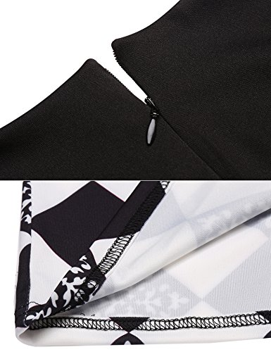Pencil Dress Women's Business Retro 1950s Sleeveless Black Wear to Slim ACEVOG Style Work gA1qwn14