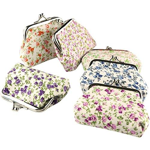 Lady Purse, TOOPOOT Women Vintage Flower Small Wallet Hasp Purse Clutch Bag (random)