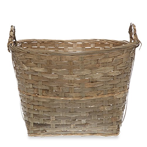 Oblong Bamboo Utility Basket with Ear Handles - Large