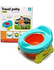 Plegable Portátil Asiento Bebé Potette - WISHTIME Inodoro infantil 2 en 1,sirve como asiento o como elevador para inodoros convencionales,desmontable,De Inodoro WC Para Niños