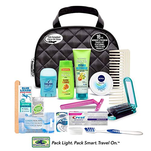 Convenience Kits Women's Premium 16 PC Assembled Travel Kit: Featuring: Fructis Hair & Nivea Skin Products