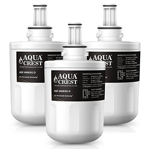 AQUACREST DA29-00003G NSF 401 Certified to Reduce 99% of Lead, Pharmaceuticals and More, Compatible with Samsung DA29-00003G, DA29-00003B, DA29-00003A, Aqua-Pure Plus, HAFCU1 (Pack of 3) ()