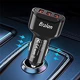 USB Car Charger,Bralon 24W/4.8A 3-Port Fast Car