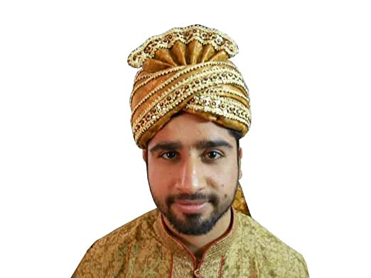 Indian Turban Sherwani Safa Men Hat Handmade Top Hat Pagri Pag at ... 592833add35