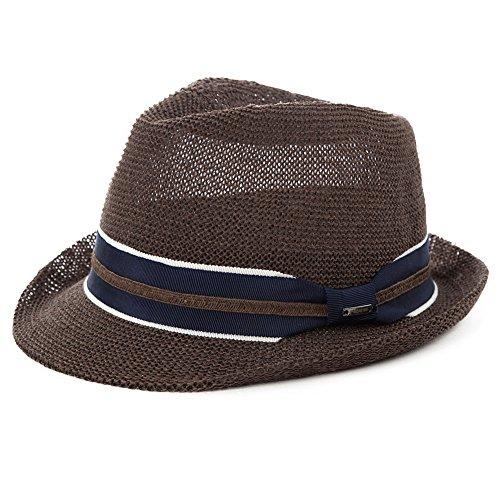 Siggi Unisex Mens Panama Summer Trilby Fedora Summer Sun Straw Hats 56-59CM - 58 Size Hat