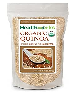 Healthworks Quinoa White Whole Grain Raw Organic, 4lb
