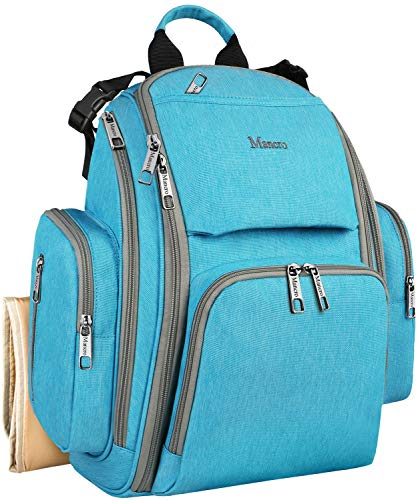 Baby Diaper Backpack, Travel Organizer Maternity Diaper Bags for Dad/Mom with Many Pocket, Insulated Pockets, Changing Pad, Well Made Durable Baby Shower Gifts Bags for Boys/Girls Care, Blue