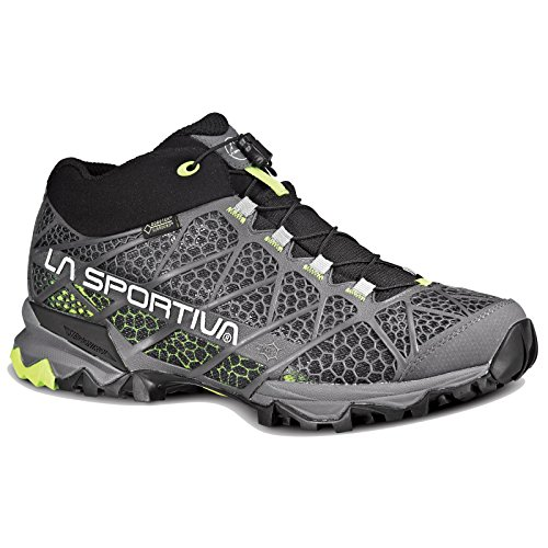La Sportiva Men's Synthesis Mid GTX Hiking Shoe, Grey/Green, 43 M EU
