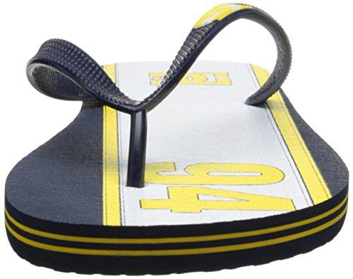 DC Shoes Spray Graffik D0303276 - Chanclas de caucho para hombre Navy/Yellow