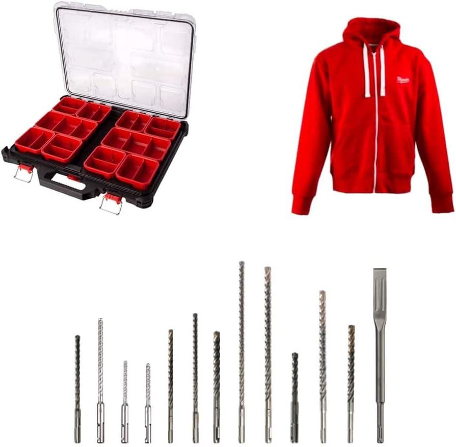 Pack organizador MILWAUKEE 10 taquillas delgadas PACKOUT - chaqueta con cremallera Talla XL - 12 bosques - 1 cincel: Amazon.es: Bricolaje y herramientas