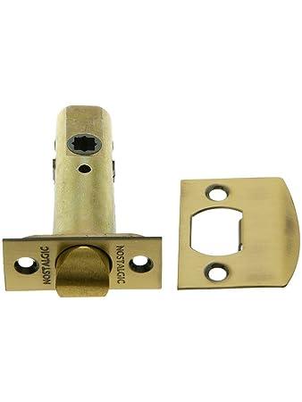 2 3/8u0026quot; Standard Tubular Latch In Antique Brass. Old Door Knobs Parts