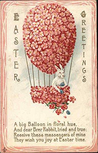 Easter Greetings Flowers Original Vintage Postcard