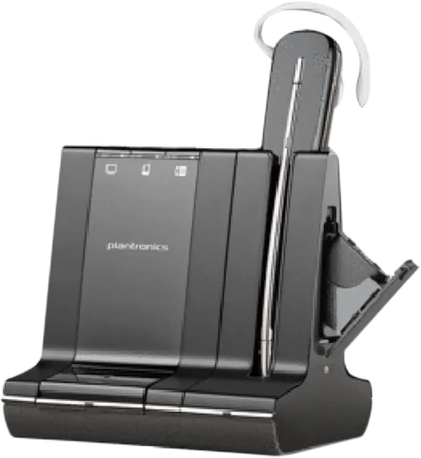 Plantronics Savi W745 Wireless Office Headset System With Spare Battery (Renewed)