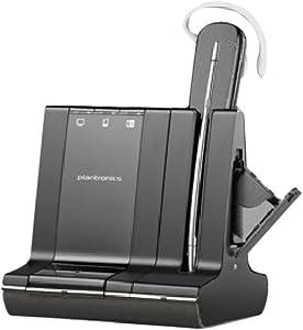Plantronics Savi W745 Wireless Office Headset System With Spare Battery (Renewed)