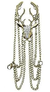 niceeshop(TM) Fashion Vintage Deer Bracelet,Bronze