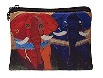 Change Purse, Vegan Coin Purse - Animals - From My Original Paintings - Support Wildlife Conservation, Read How (Animals) Coin Purse - Animals - From My Original Paintings (Dog - Ginger) Salvador Kitti