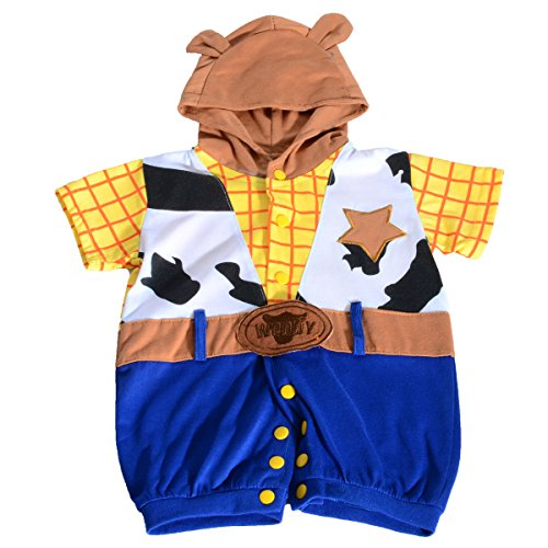 Dressy Daisy Baby Boys' Woody Toy Story Halloween Fancy Party Costumes Jumpsuit Size 6-9 Months ()