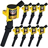 Bravex Ignition Coils for Ford F-150 F-250 F-350 4.6L 5.4L V8 DG508 DG457 DG472 DG491 CROWN VICTORIA EXPEDITION MUSTANG LINCOLN MERCURY Set of 8(Yellow)