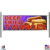 Deep Fried Twinkies Warm Homemade Stick Candy Bar Advertising Vinyl Banner Sign