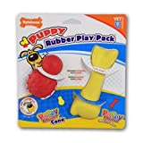 Nylabone Puppy Rubber Chew Toy Play Pack, My Pet Supplies