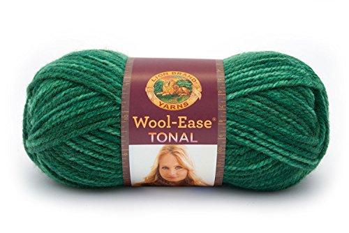 Craft Yarn Wool (Lion Brand Yarn 635-171 Wool-Ease Tonal Yarn, Fern)