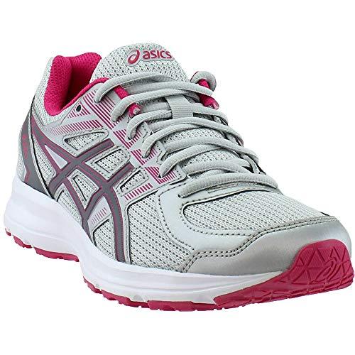 ASICS Women's T7K8N.9697 Jolt Running Shoes, Glacier Grey/Carbon/Bright Rose, 9