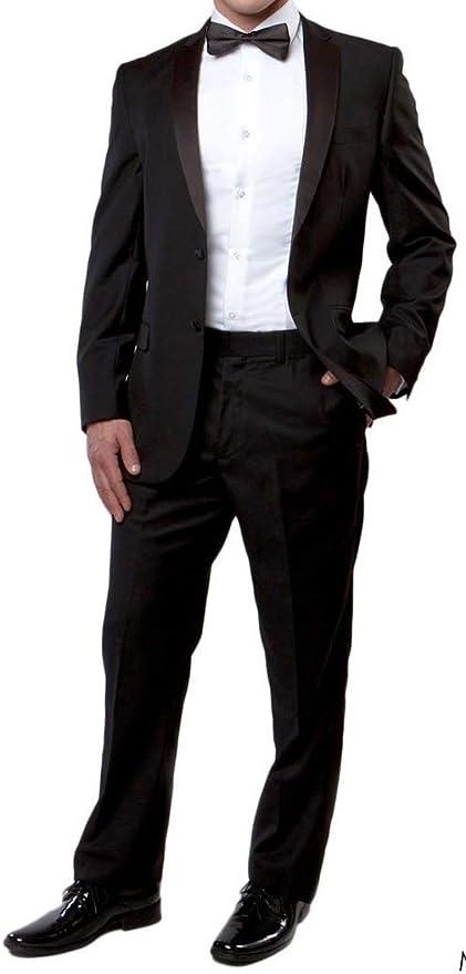 Nuevo Mens 5 pc completo traje de esmoquin chaqueta pantalones camisa fajín, pajarita