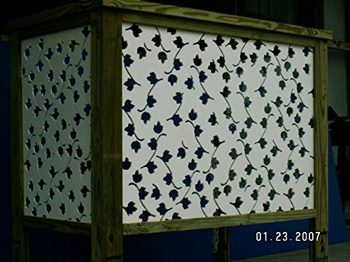 Amazon.com : Acurio Vines White Vinyl Lattice Decorative Privacy Panel :  Outdoor Decorative Fences : Garden U0026 Outdoor